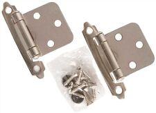 Satin Nickel Flush Mount Cabinet Hardware Hinge Set