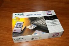 New D-Link 128 ISDN TA PC Card PCMCIA WAN DTA-128 plus NEW complete box for PC