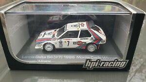 Very rare 1/43 Hpi Lancia Delta S4 Monte Carlo rally 1986