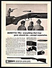 1969 BERETTA TRs Trap Gun Shotgun PRINT AD Windsor Grade Engraving shown