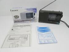 Sony ICF-SW11 Portable Radio Stereo 12 Bands FM/SW/MW/LW Receiver w/Box LIKE NEW