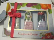 Crabtree Evelyn Hand Therapy Set 3~Spiced Vanilla, Frosted Berries,Snow Blossom