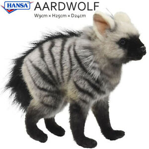 HANSA Aardwolf Pup Hyena Real Plush Animal