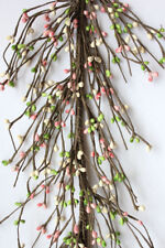 AR1956C-33 Primitive Pip Berry Garland in Green Yellow and White