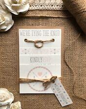 Wedding Invitation Set Rustic Tying The Knot!