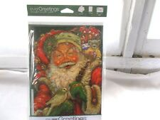 New Ever Greetings Card & Garden Yard Flag Gift Santa Claus with Toy Bag
