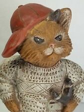 "Rare Signed/Dated 1993 Sarah's Attic Le Figurine ""Stinky"" Naughty Cat/Mint w/Coa"