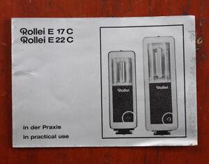 ROLLEI E 17 C AND E 22 C FLASH INSTRUCTION BOOK/208014