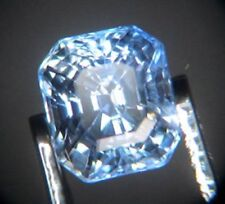 Blue Ceylon Sapphire 0.78ct Octagon 5x4.5mm Loose Natural Gemstone VS