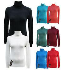Damen Rollkragen Pulli Strick-Pullover Shirt mit Rollkragen perfekt für drunter