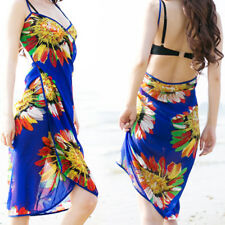 Women Sexy Summer Sandy beach Strap Backless Floral Long Party Maxi Mini Dress