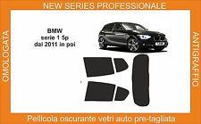 pellicola oscurante vetri bmw serie 1 5p dal 2011-19 kit posteriore