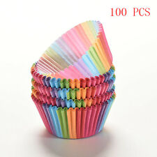 100pcs Rainbow Paper Cake Cupcake Liners Baking Muffin Cup Case Party DIY Tools