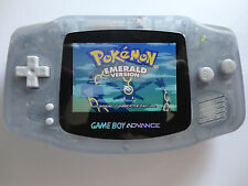 Backlit Nintendo GBA Game boy Advance Custom Backlight - Glacier ags 101 brighte