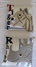 Pottery Barn Kids Tiger & Rhino Pillow Covers & Pillow inserts