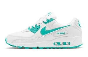 Nike Air Max 90 WHITE HYPER JADE TEAL BLUE CT1028-102 Men's Retro Running OG