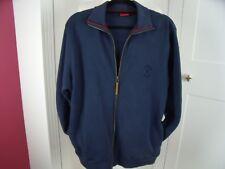 Vintage Mens Pierre Cardin dark navy blue full zip sweat shirt sports top size M