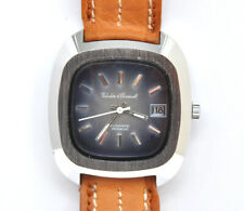 Valadier & Charmont oversized 1970 man's steel automatic watch new old stock