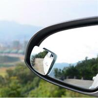 2 Pcs Wide Angle Convex Car Blind Spot Round Stick-On Side View Rearview Mirrors