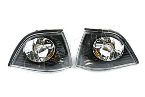 BMW 3-Series E36 COUPE Corner Lights BLACK Clear! 2D