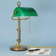 direkt vom Hersteller Bankerlampe Schreibtischlampe Tischlampe Messing grün 50X