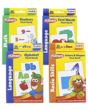 Playskool Toys Flash Cards Kids Reward Stickers Alphabet Flash Cards 4 Sets