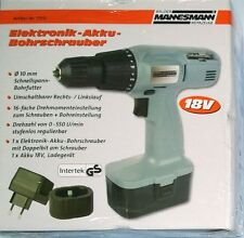 Bruder Mannesmann Elektronik-Akku-Bohrschrauber 17915 18 Volt