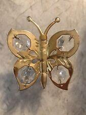 Gold Tone Butterfly Window Glass Door SunCatcher