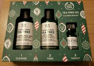 The Body Shop Tea Tree 123 Clearer Skin Kit Targets Spots & Blemishes ideal GIFT