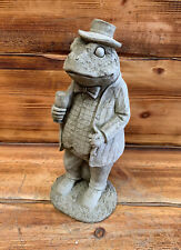 STONE GARDEN WIND IN THE WILLOWS 'TOAD/FROG' CONCRETE STATUE ORNAMENT