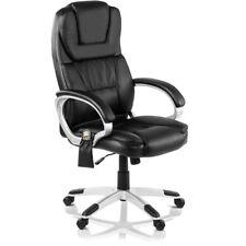 Poltrona Massaggiante da Ufficio con Riscaldamento sedia da studio Nera-McHaus