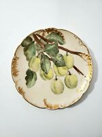 """1891 Haviland H&Co Limoges Hand Painted  and Gilded 8 1/2"""" Plate"""