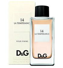 D&G DOLCE GABANNA ANTHOLOGY LA TEMPERANCE # 14 EAU DE TOILETTE 100ML 3.3OZ