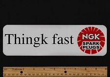 "10"" NGK SPARK PLUGS VINTAGE Motocross Superbike STICKER Motorcycle Decal Enduro"