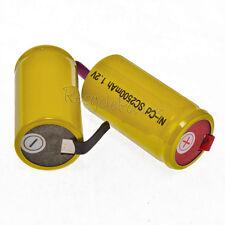 16 Yellow NiCd SubC Sub C 2500mAh Rechargeable Battery Tab