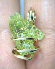15.92ct Golden Green Zincite Crystal Duzy Hand Forged 14kt