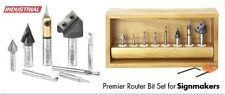 8-Pc Amana CNC Signmaking Starter Router Bit Set - INDUSTRIAL