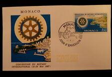 MONACO PREMIER JOUR FDC YVERT 726      ROTARY INTERNATIONAL      1F      1966