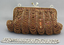 New beaded sequins evening handbag/purse/clutch Colour: Brown #2