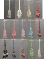 New Silver Beaded  Key tassel  avaiable in (14 Colours)
