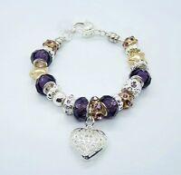 wholesale European Murano Glass Beads Silver Charm Bracelet +Gift Box  PXB026