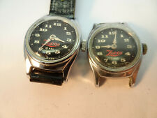 LOT OF TWO ZORRO CHARACTER US TIME TIMEX WINDUP WATCHES ONE RUNS ORIGINAL BAND