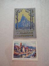 Livret Publicitaire CHEMINS DE FER D'ALSACE ET LORRAINE + Pub  Auto-Car 1920/30