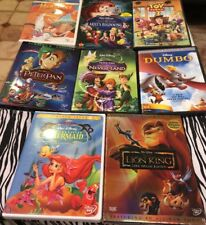8 Disney DVDs: Little Mermaid Lion King Dumbo Peter Pan Hercules Neverland Lot