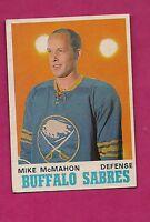 1970-71 OPC  # 143 BUFFALO SABRES MIKE MCMAHON EX+ CARD (INV#4567)