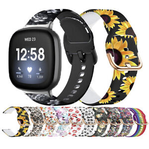 Soft Silicone Fashion Watch Wristband Strap For Fitbit Sense/Versa 3/2/1/Lite