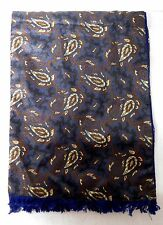 Vintage Lloyd Guaranteed Menswear Blue Paisley Pattern With Fringe Euc