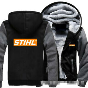 Warm Thicken Stihl Hoodie Fans Jacket  Sweater fleece coat Team off road