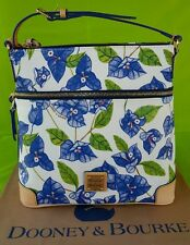 Dooney & Bourke Coated Cotton Bougainvillea Crossbody Bag in White/Blue.