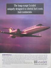 9/1993 PUB BOMBARDIER LEARJET 60 REGIONAL AIRCRAFT BUSINESS JET ORIGINAL AD